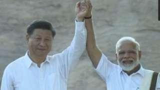 पंतप्रधान नरेंद्र मोदी, शी जिनपिंग