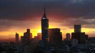 Un atardecer en Ciudad de México Foto: Santiago Arau