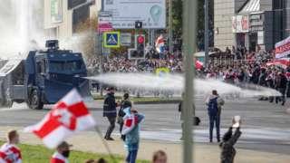 Minsk demonstration, 4 Oct 20