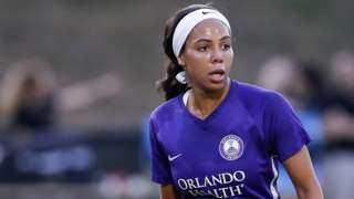 Sydney Leroux in action for Orlando Pride