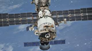 The ISS pictured from a Soyuz spacecraft last year