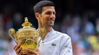 Djokovic wins Wimbledon trophy