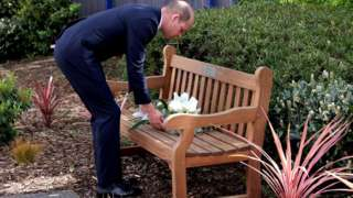 The Duke of Cambridge lays a wreath in memory of Sgt Matt Ratana