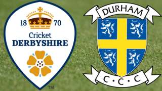 Derbyshire v Durham badges