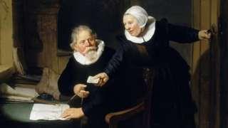 Rembrandt van Rijn's The Shipbuilder and his Wife, 1633
