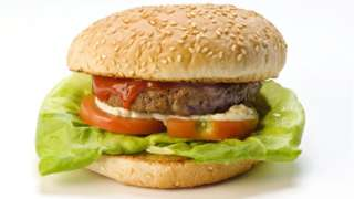 Hamburger in bun