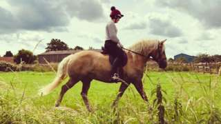 Ms Compton and horse