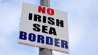 Sign saying: No Irish Sea border