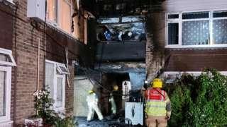 Fire in Tintern Court, Blackfriars Way, Salisbury