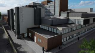 Architect's CGI of Poole Hospital