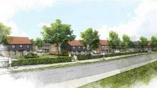 Artist's Impression Of First 110 Homes On Crewkerne Key Site.