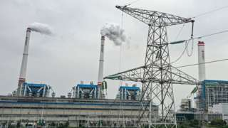 A coal fired power plant on 13 October 2021 in Hanchuan, Hubei province, China