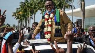 Mgombea wa urais kupitia Chadema Tundu Lissu