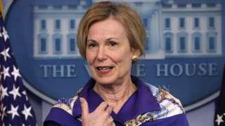Deborah Birx at a White House briefing on 22 May