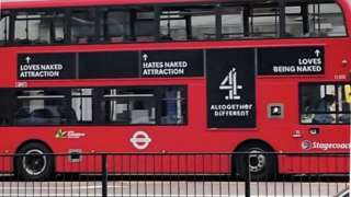 Bus with advert