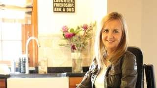 Jayne at home in Merthyr