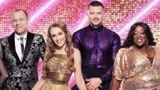 Strictly contestants Robert Webb, Rose Ayling Ells, Adam Peaty and Judi Love