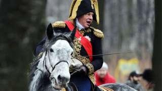 Sokolov dressed as Napoleon in 2014