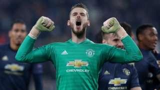Man Utd goalkeeper David de Gea