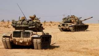 Танки М60 турецкой армии в Сирии