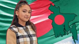 Joy Crookes and Bangladesh flag