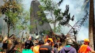Ainda não há informações oficiais atualizadas sobre o estado de saúde dos sobreviventes da queda