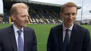 Notts County owners Christoffer (left) and Alexander Reedtz