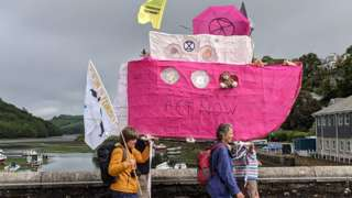 Protest boat