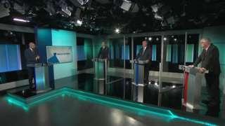Dadl deledu ITV Cymru rhwng y tri prif blaid
