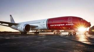 Boeing 787 Dreamliner in colours of low-cost carrier Norwegian