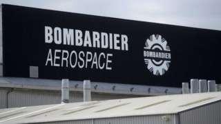 Bombardier Aerospace sign