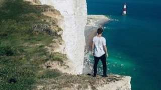 Cliffs near Beachy Head in DFDS advert