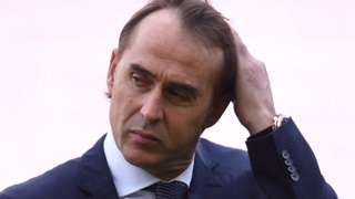 Julen Lopetegui after Saturday's defeat against Barcelona