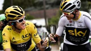 Geraint Thomas (left) and Chris Froome