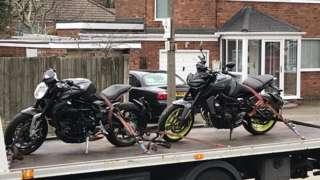 Seized bikes