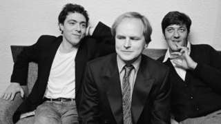 John Sessions, Clive Anderson and Stephen Fry together for the BBC Radio 4 series, Whose Line is it Anyway?