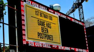 The scoreboard at Newlands