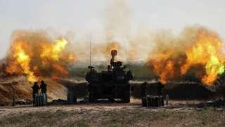 Израильская армия обстреливает Газу 19 мая 2021 года