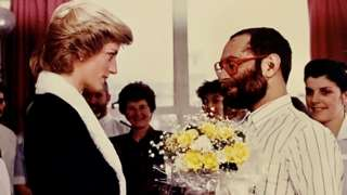 Princess of Wales meeting a patient at Mildmay Hospital in east London