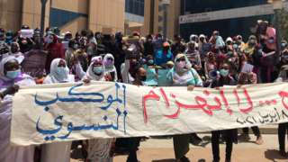 تظاهرة نسائية في السودان