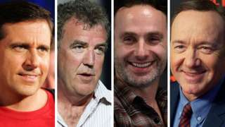 Steve Carrel, Jeremy Clarkson, Andrew Lincoln and Kevin Spacey