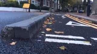 A concrete divider