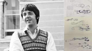 Paul McCartney with sketch