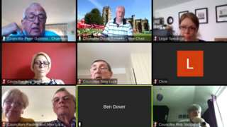 Screenshot of the Zoom meeting held by South Somerset District Council