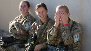 Female soldiers in Afghanistan