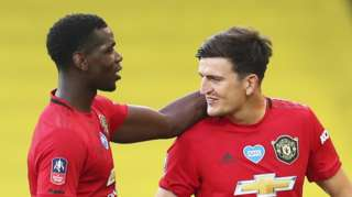 Paul Pogba (left) and Harry Maguire