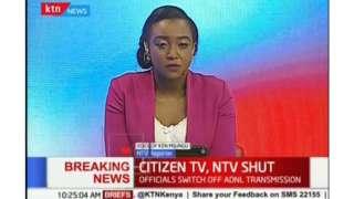 KTN news presenter on air