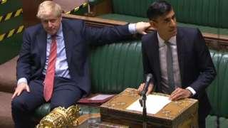 Boris Johnson with Rishi Sunak