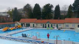 The lido before the flood damage