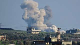 Air strike on town in Syria's Idlib province